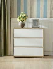 Teenage 3 drawer Tallboy chest slim Design Two tone Oak and white
