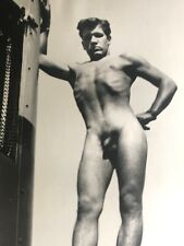 """VINTAGE 8X10"""" BEEFCAKE PHOTOGRAPH GOOD LOOKING YOUNG NUDE OUTSIDE GAY INTEREST"""