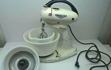 Vintage Hamilton Beach Mixer Model G White Bowls Juicer