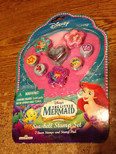 DISNEY PRINCESS LITTLE MERMAID SEASHELL STAMP SET / REAL PICS / WRONGWAY052