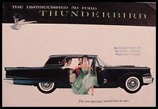 1959 Ford Thunderbird T-Bird Original Brochure 59