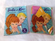 Two Vintage 1962 Barbie And Ken Booklets! Good Condition