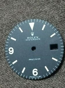 Rolex 6694 Oyster Date precision black Dial with Arabic & baton indices - authen