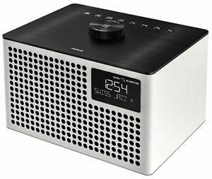 GENEVA  Acustica Lounge Radio & Bluetooth Speaker FM DAB+  alarm clock in  WHITE