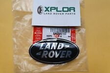 Land Rover Logo Grill Badge - Black/Silver (DAG500160)