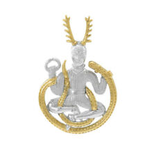 Cernunnos Herne the Hunter Pagan Sterling Silver Pendant Peter Stone Jewelry