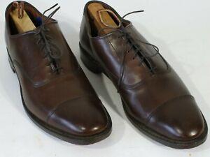 Allen Edmonds Park Ave Shoes 10.5A Brown Captoe Oxfords Narrow