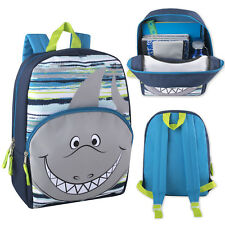 Kids Shark Backpack School Bag Toddler Preschool Reinforced Straps Boys Girls
