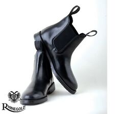 Rhinegold Adults Classic Leather Jodhpur Boots – Size 8, BLACK  **FREE P&P**