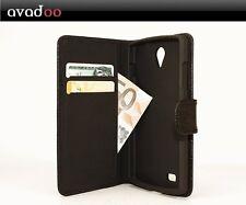 avadoo® Archos 50b Platinum Flip Case Schutzhülle Tasche Schwarz