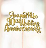 Personalised 30th Wedding Anniversary Cake Topper Decorations ANY NAMES P1061