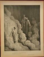 Antique Gustave Dore Dante's Inferno Dante Demons Hell Art Engraving Print 1870