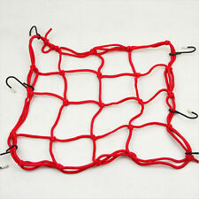 Rack Storage Bike Helmet Cargo Net Bungee Strap Elastic Cords Hooks Luggage