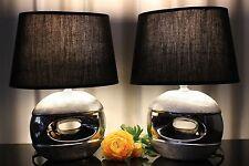 2  Skulptur Lampen Nachttischlampen Tischleuchte Leuchte Tischlampe Keramik