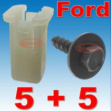 Ford fiesta ST150 DELANTERO PARACHOQUES Ala CLIPS De Plástico Tuerca de pasahilos en expansión y Tornillos