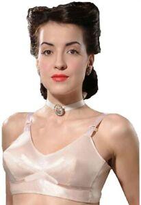 What Katie Did 1940s Vintage Peach Bullet Bra L6036