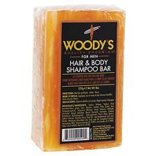 Woody's Hair & Body Shampoo Bar 8 oz / 227g Hemp Seed Oil Shea Butter Tea Tree