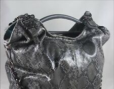 Coach Madison Python Embossed Leather Hobo Handbag 16031 GUC