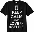 Maglia TSHIRT Keep Calm and LOVE #SELFIE Moda Fashion Tendenza T-SHIRT # selfie