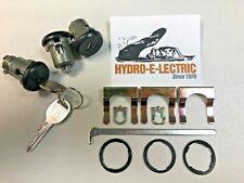 1969-1980 Chevelle, GTO, Skylark, Cutlass Door & Trunk Lock set- Black Finish