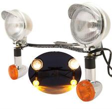Passing Turn Signals Spot Lights Bar For Yamaha Road Star XV 1600 1700 Silverado