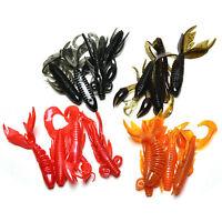 4Pcs/set Minnow Soft Bait Artificial Fishing Lure Worm Shrimp Tackle NT