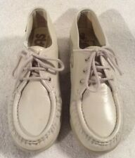SAS Siesta Shoes Womens Size 6.5M Beige Leather Lace Up Comfort Oxfords USA