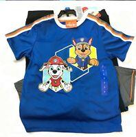 NEW Nick Jr. Kids Paw Patrol Short Sleeve Shirt Pant Shorts 3 Piece Set