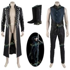DEVIL MAY CRY V Virgilio Diavolo Costume Halloween Cosplay Cappotto Gilet Pantaloni Scarpe
