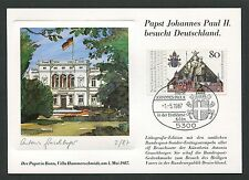 BUND MK 1987 PAPST-BESUCH BONN MAXIMUMKARTE POPE MAXIMUM CARD MC CM m58