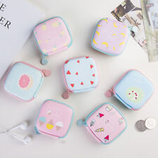 Candy Color Earphone Headphone Storage Case Coin Purse Wallet Memory Card Box