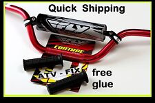 yamaha blaster handlebars fly racing aluminum bar hand grips grip glue red 7/8