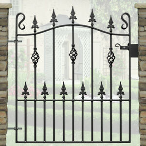 """Wrought Iron Garden Gate / Fabricated Single Gate (For 3ft 3"""" (991mm) Opening)"""