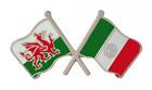 Mexico Flag & Wales Flag Friendship Courtesy Pin Badge