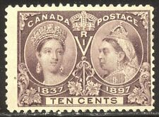 Canada #57 Mint - 1897 10c Brown Violet, Jubilee ($160)