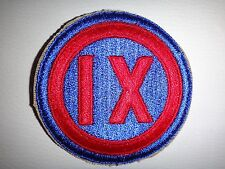 World War II Patch US Army IX CORPS 9th Corps