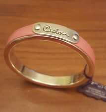 High Quality Jewellery.  Ciclon Bracelet Bangle Silver Plated Pink Leather BNWT