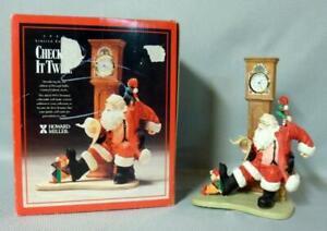 Howard Miller Santa Claus Checking in Twice Christmas Clock w/Box