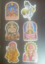 6 Indian Hindu God Stickers for Home Temple Prayers Worship Meditation Gift