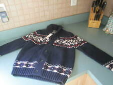 BROOKS BROTHERS FLEECE BLUE RED & White SWEATER YOUTH BOYS SIZEMED