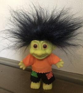 "Vintage Russ 5"" FRANKENSTEIN Troll Doll Halloween Monster Green Ghoul Toy Figure"