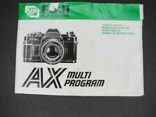 Fuji Ax Multi Program Camera Instruction Book / Manual / User Guide