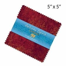 "42~5"" SQUARES~ARTISAN SPIRIT SHIMMER-SUNGLOW~""CHARM PACK""~NORTHCOTT FABRIC~"