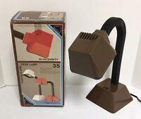 NIB Vintage Hi-Intensity Brown Desk Lamp, Model 35, By Mobilite Kidde