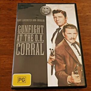 Gunfight at the O.K Corral DVD R4 VERY GOOD – FREE POST