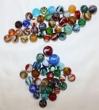 Lot of 67 Vintage Machine Marbles: Slag, Corkscrew, Striped Onyx