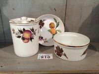 Royal Worcester Fine Bone China Dishes Arden & Evesham & Blue Waters Jam Pot
