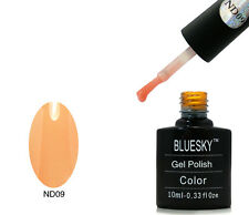 Bluesky nd09 ARANCIONE NUDE-UV LED Gel Immersione OFF Nail Polish 10ml
