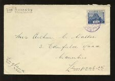 CHINA JAPAN P.O SOUTH MANCHURIA 1935 DAIREN to LIVERPOOL GB...10s SOLO
