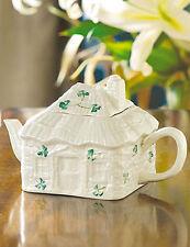 Belleek Tableware Shamrock Irish Cottage Tea Pot & Lid